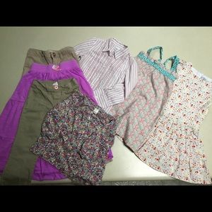 Lot of lovely girls clothes sz 4-5. 7 items
